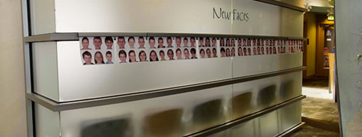 New Faces Wall